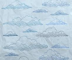 clouds drawing multicolored flat handdrawn sketch vector icon free