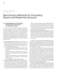 chapter 4 best practice methods for estimating bicycle and
