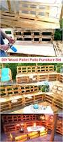 Pallets Patio Furniture by Diy Wood Pallet Patio Furniture Set Pallet Furniture Projects
