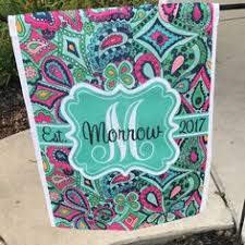 Personalized Garden Decor Personalized Garden Flag Monogrammed Gifts For Her Outdoor Garden