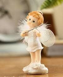 Angel Decorations For Baby Shower Princess Kids Birthday Cake Toppers Decorations Resin Angel