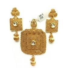 set of gold plain gold pendant sets sone ki latkan set miracle jewels new