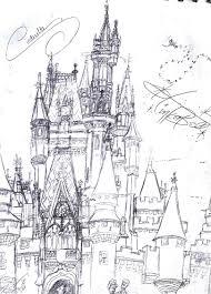 cinderella u0027s castle sketch neosun7 deviantart