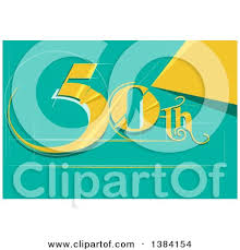 fiftieth anniversary clipart of a fiftieth anniversary or birthday design with number