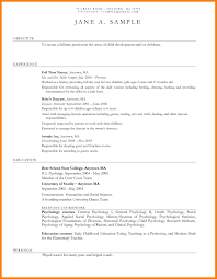 Childcare Resume Templates Create My Resume Resume Daycare Teacher Samples Examples Home