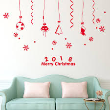 popular wallpaper christmas buy cheap wallpaper christmas lots 2018 happy new year merry christmas pvc wall sticker home shop windows decals wall stickers living