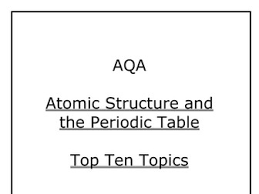 Atomic Structure And The Periodic Table Worksheet Answers by Aqa Gcse Chemistry Atomic Structure And Periodic Table By Hf583