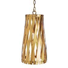 Antique Brass Pendant Light by Aidan Gray Modern Basket Weave Pendant Antique Brass