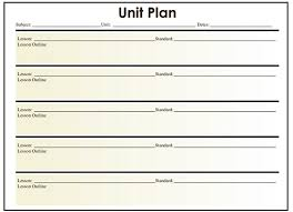 unit plan template general music lesson plan free pdf example