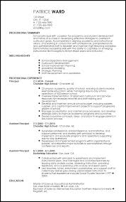 resume templates for educators free contemporary school principal resume templates resumenow