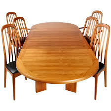 Teak Dining Tables And Chairs Benny Linden Scandinavian Style Teak Dining Room Set For Sale At