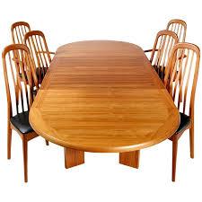 Teak Dining Room Chairs Benny Linden Scandinavian Style Teak Dining Room Set For Sale At