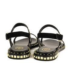 shop black sandals at ash footwear peace sandals in suede now online