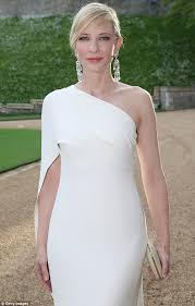 cate blanchett flaunts willowy frame in one shouldered gown for
