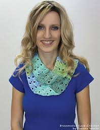 broomstick lace infinity scarf ravelry broomstick lace infinity scarf pattern by naztazia