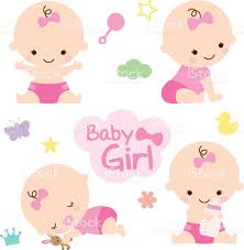 girl baby shower baby girl baby shower stock vector more images of baby