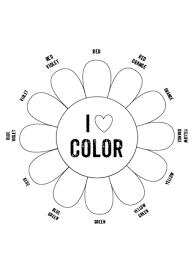 printable color wheel printables art handouts template