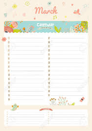cute calendar 2016 template happy birthday diary with vector