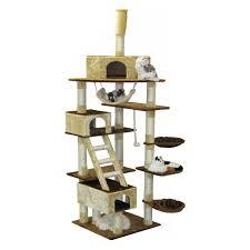 Cat Furniture Go Pet Club Huge 87 5 In Cat Tree Condo House Furniture Hayneedle