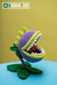 etsy crochet pattern amigurumi crochet pattern of chomper from plants vs zombies