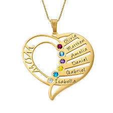 birthstone pendants for engraved birthstone necklace 14k gold mynamenecklace