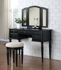 vintage vanity table with mirror and bench black vanity table leonardpadilla com