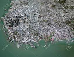 Satellite View Maps Satellite View In 3d With Palaces On The Map Of San Francisco