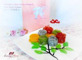 s day flower arrangements s day flower bouquet fruit jelly dessert 情人节花束果冻