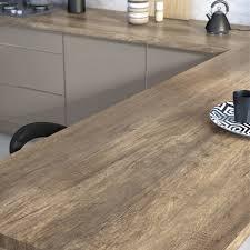 plan de travail cuisine plan de travail stratifié planky mat l 315 x p 65 cm ep 38 mm