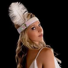 feather headbands fashion diamond sequins ostrich feather headband wearing indian