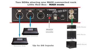 Box Audio Rack Digico Little Red Box Expanding Sd9 And Sd11 Connectivity