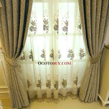 yellow jacquard chenille thermal custom bedroom curtains without