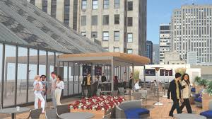 roof deck plan foundation chicago board of trade building getting new rooftop terrace