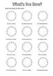 worksheet what s the time 7