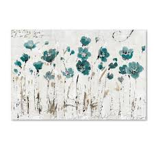 abstract art paintings original wall by zarasshop flower painting