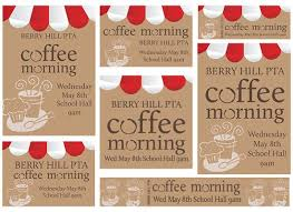 pta coffee morning template volunteering pinterest