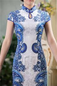 water drop collar qi pao geometric patterns short chinese