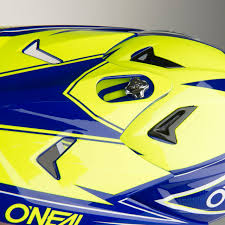 yellow motocross helmet o u0027neal 3 series fuel youth motocross helmet blue hi vis quick