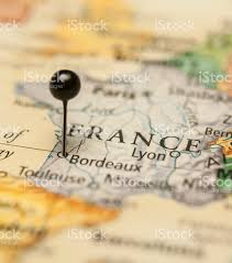 Map Of Lyon France by Travel Map Of Bordeaux And Lyon France Stock Photo 476033106 Istock