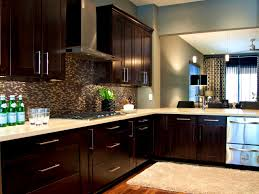Light Blue Backsplash by Bathroom Delectable Dark Kitchens Wood And Black Kitchen