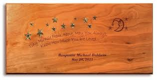baby plaques personalized personalized new born baby plaque constructed of solid cheery wood