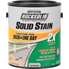 rocksolid 2x solid stain gallon cape cod gray walmart com