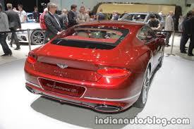 2018 bentley continental gt rear at iaa indian autos blog