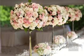 Topiaries Wedding - garden wedding flowers pink ivory topiaries