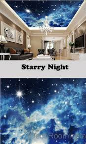 3d starry night galexy ceiling wall mural wall paper decal wall 3d starry night galexy ceiling wall mural wall paper decal wall art print deco kids wallpaper