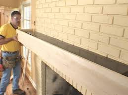 install a fireplace mantel and add stone veneer facing how tos diy