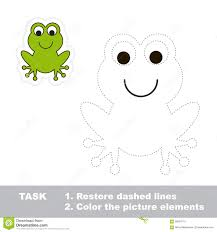 one cartoon green frog to be traced stock vector image 59553715