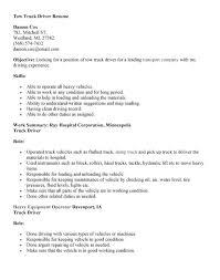 driver resume sample u0026 templatetruck driver resume template