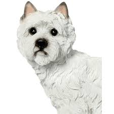 westie animal garden ornament