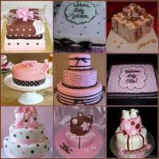 pink and brown baby shower ideas for pink and brown baby shower cake i am for flickr